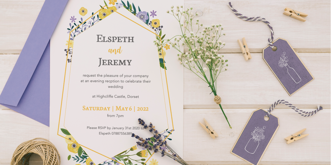 Botanical and floral wedding invitations